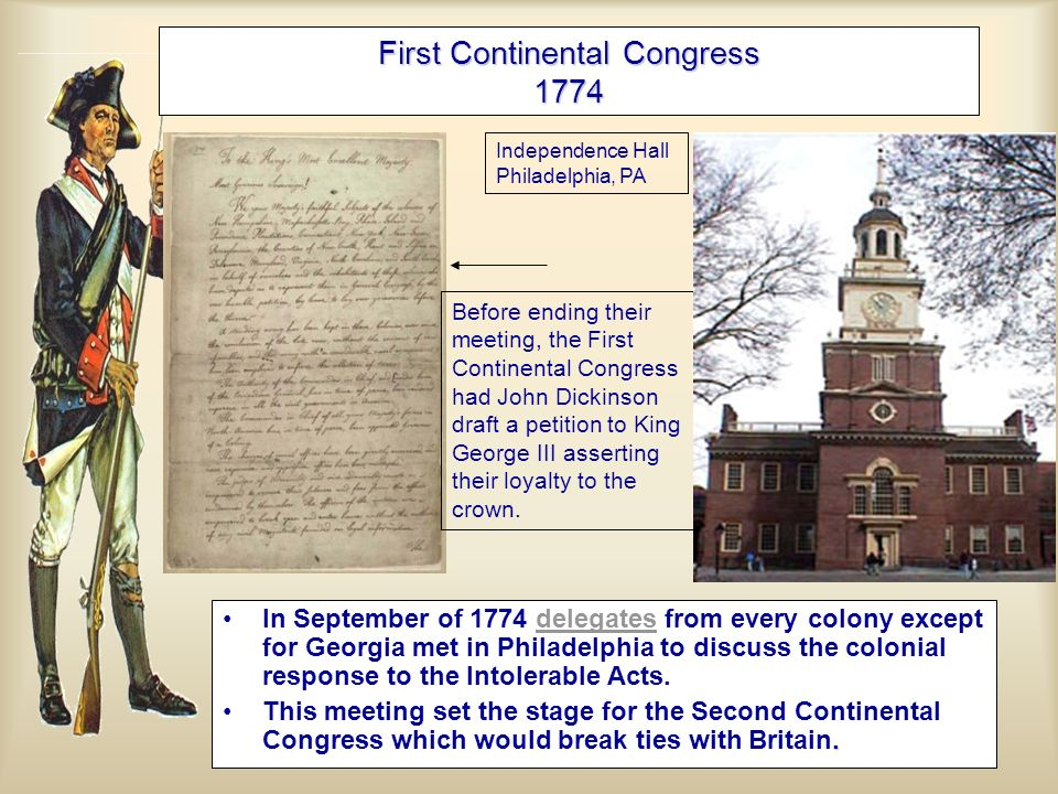 First Continental Congress 1774