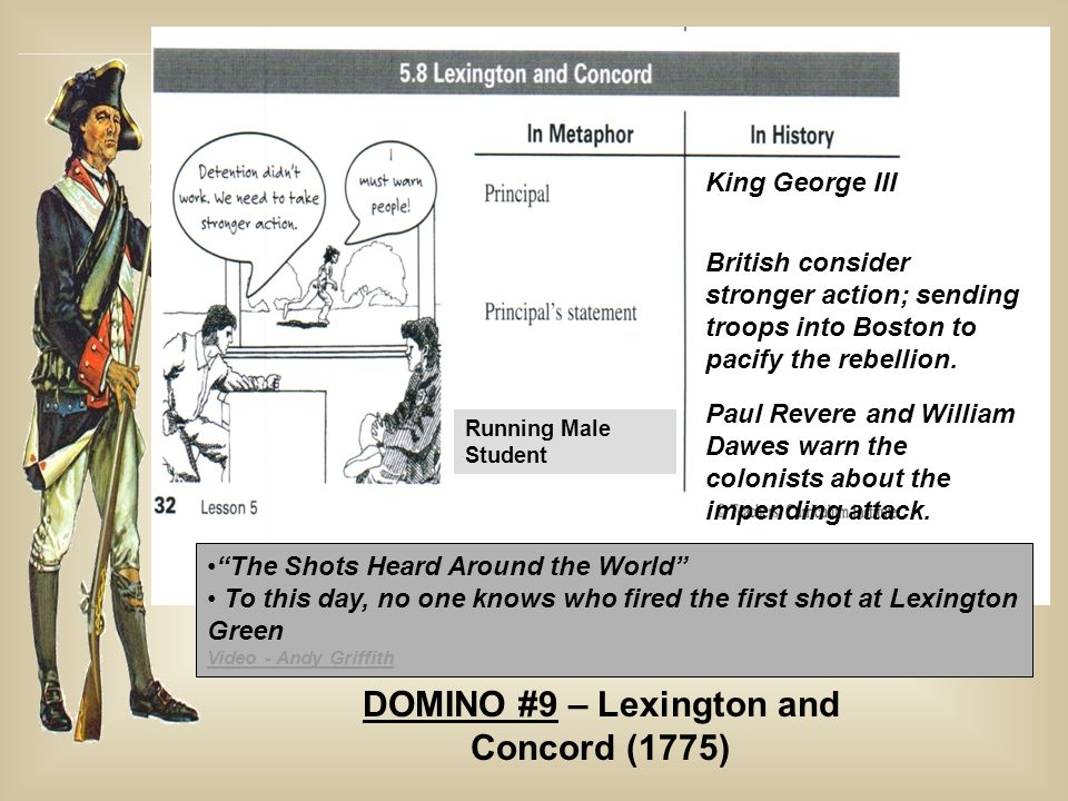DOMINO #9 – Lexington and Concord (1775)