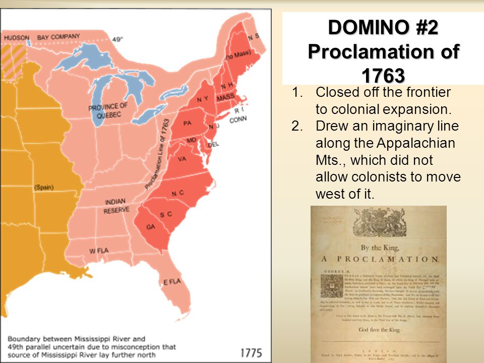 DOMINO #2 Proclamation of 1763