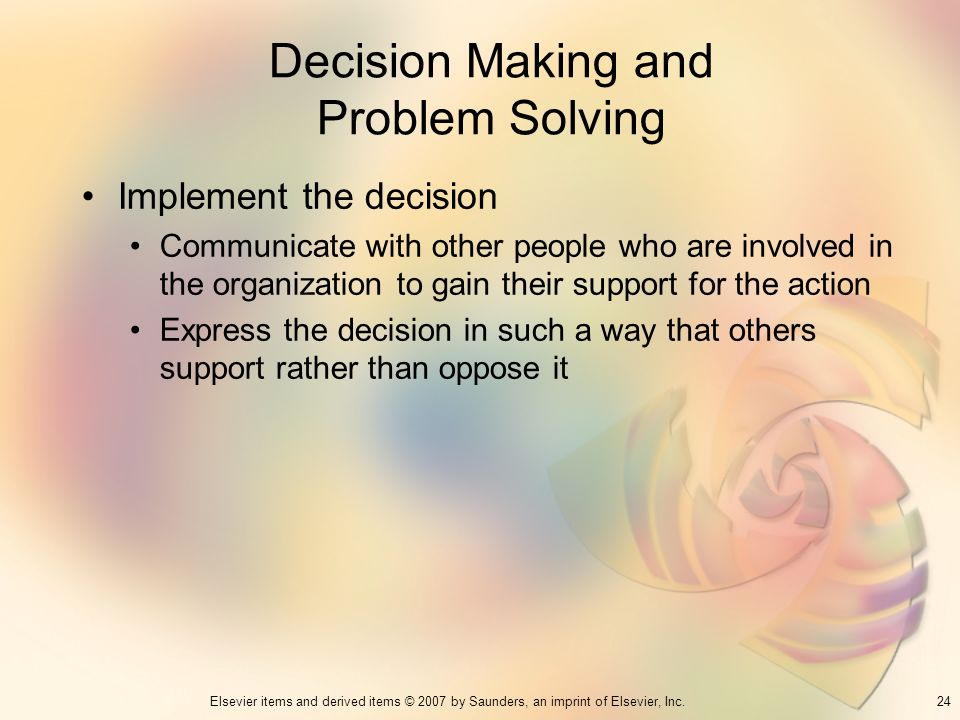 Decision Making and Problem Solving
