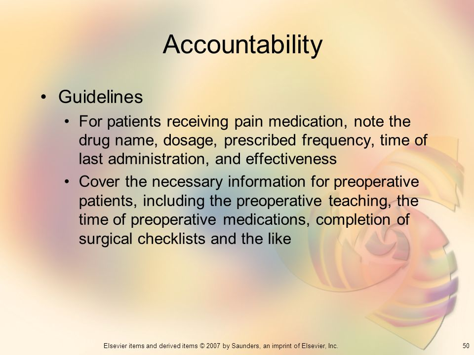 Accountability Guidelines