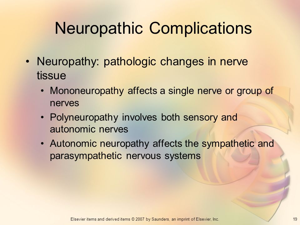 Neuropathic Complications