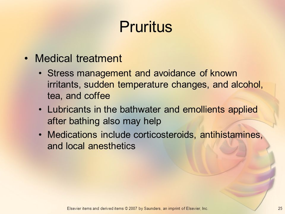 Pruritus Medical treatment