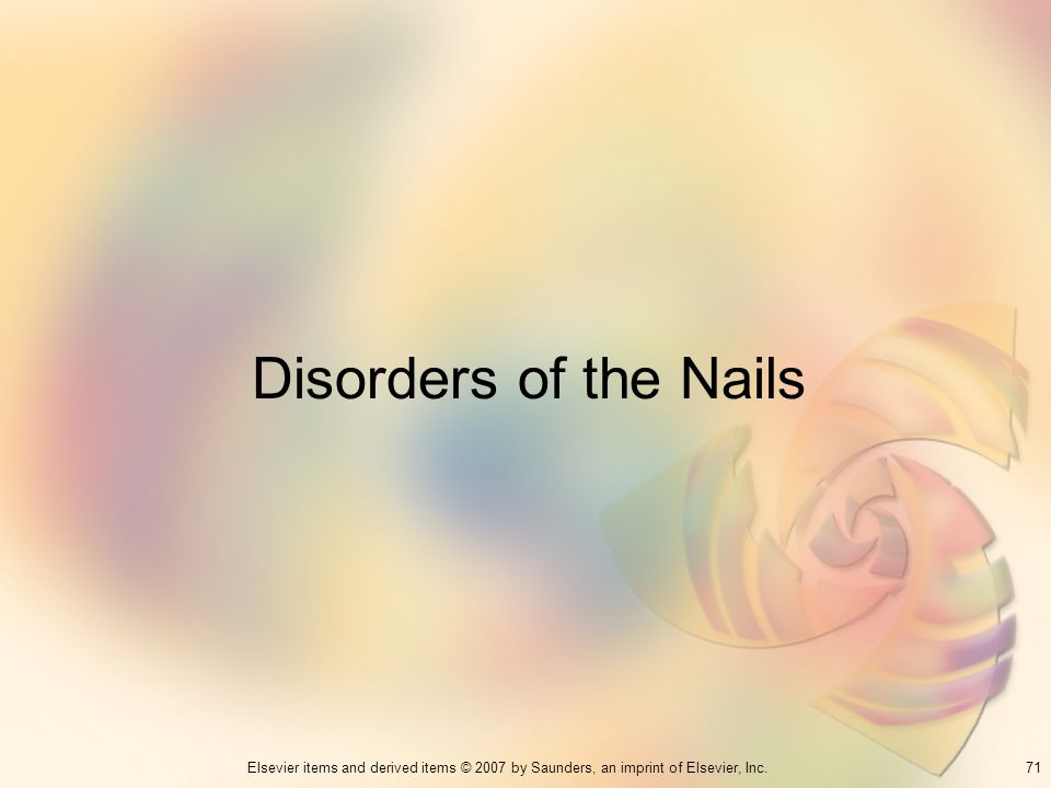 Disorders of the Nails 71