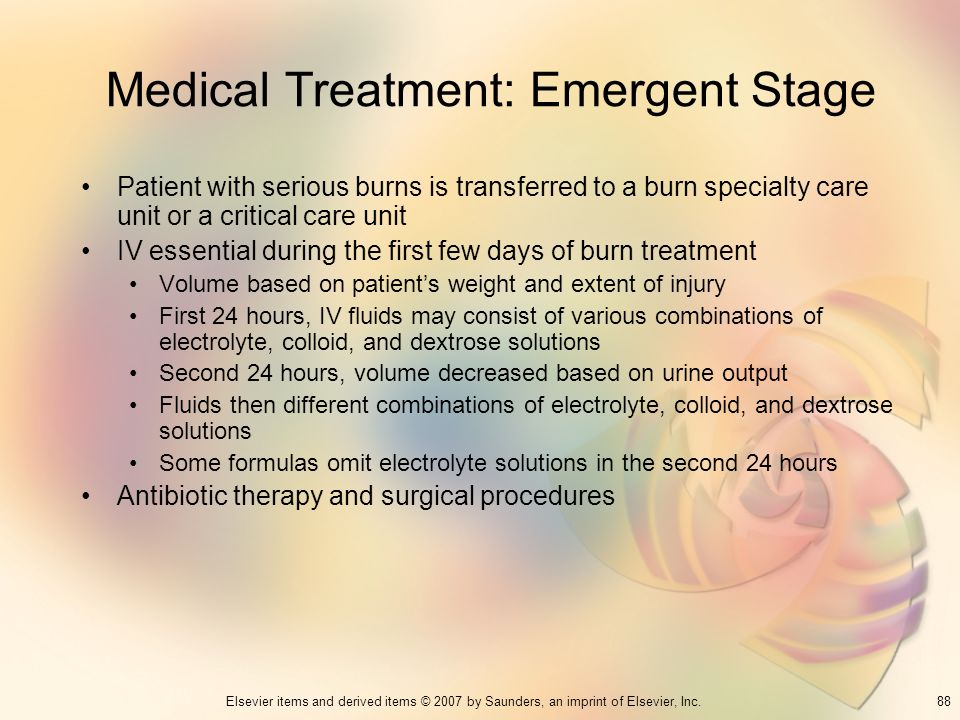 Medical Treatment: Emergent Stage