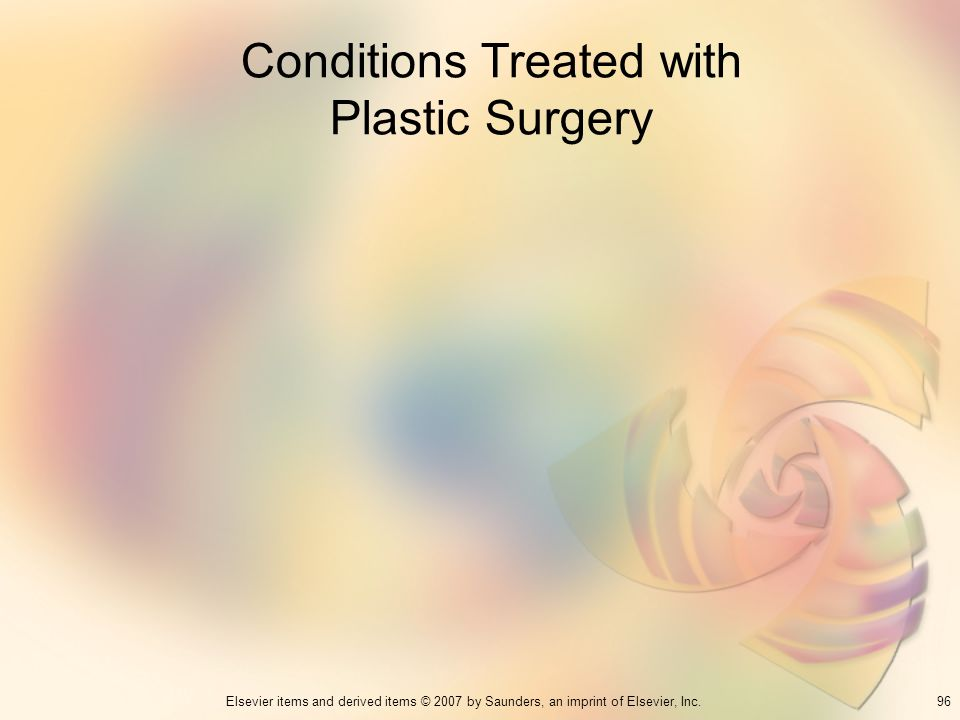 Conditions Treated with Plastic Surgery