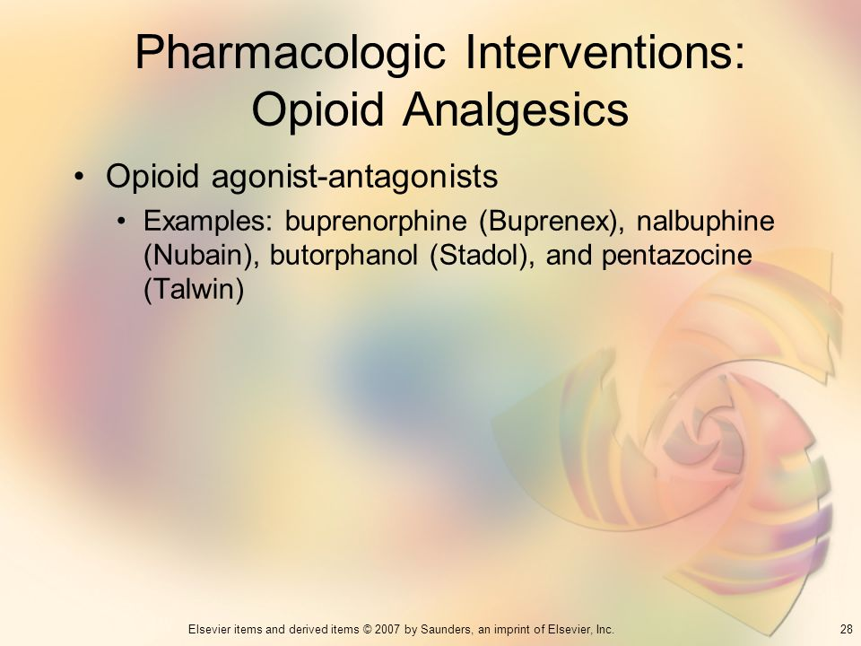 Pharmacologic Interventions: Opioid Analgesics