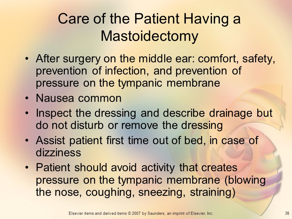Care of the Patient Having a Mastoidectomy