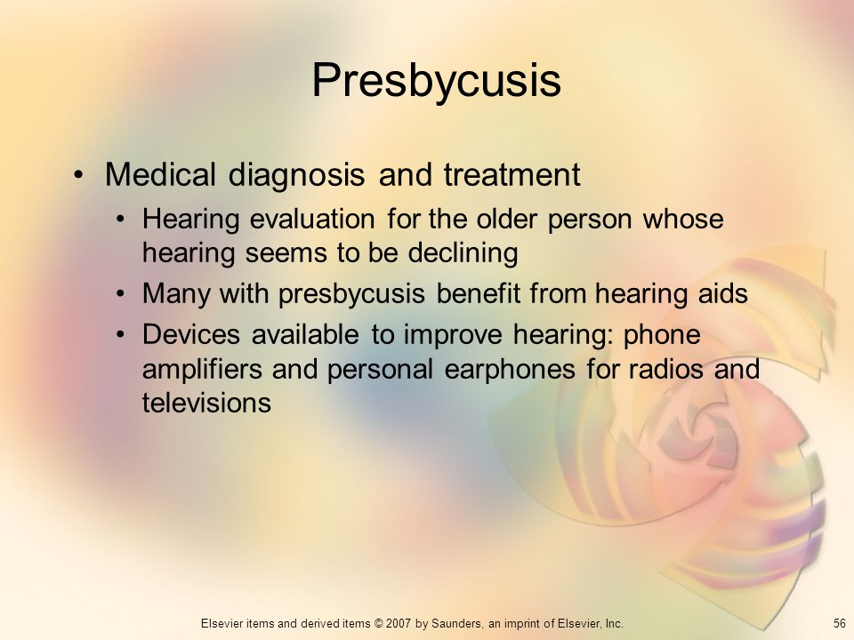 Presbycusis Medical diagnosis and treatment