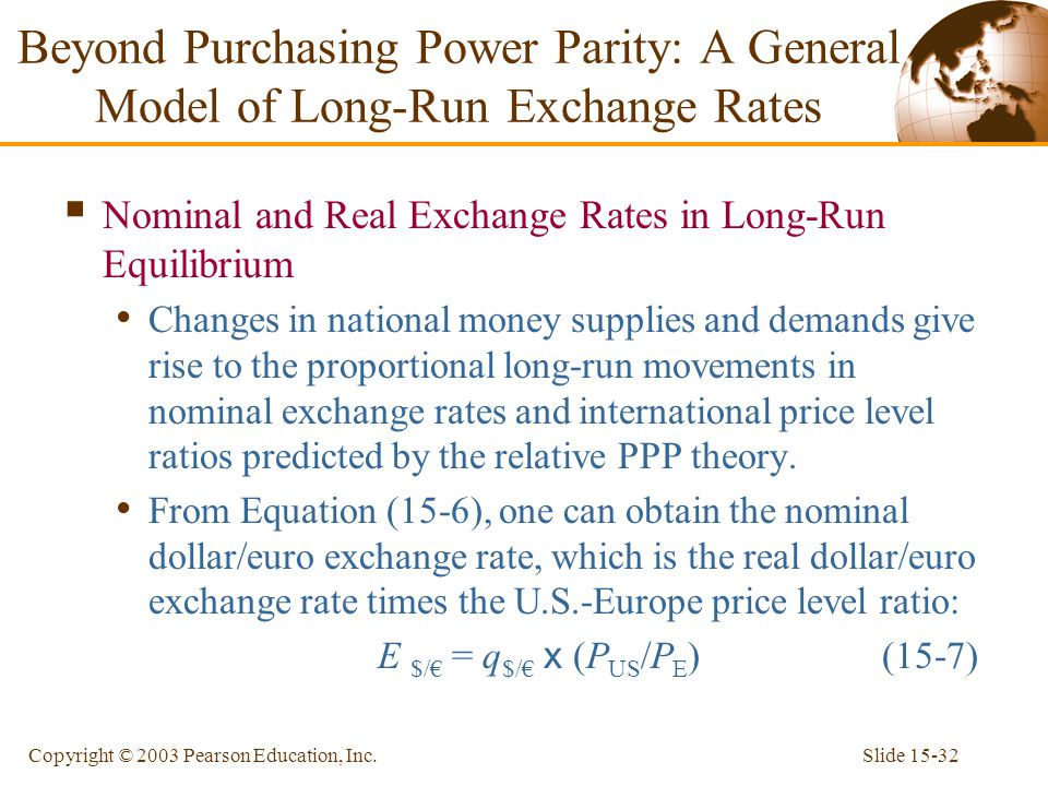 Beyond Purchasing Parity A General Model Of Long Run Exchange Rates