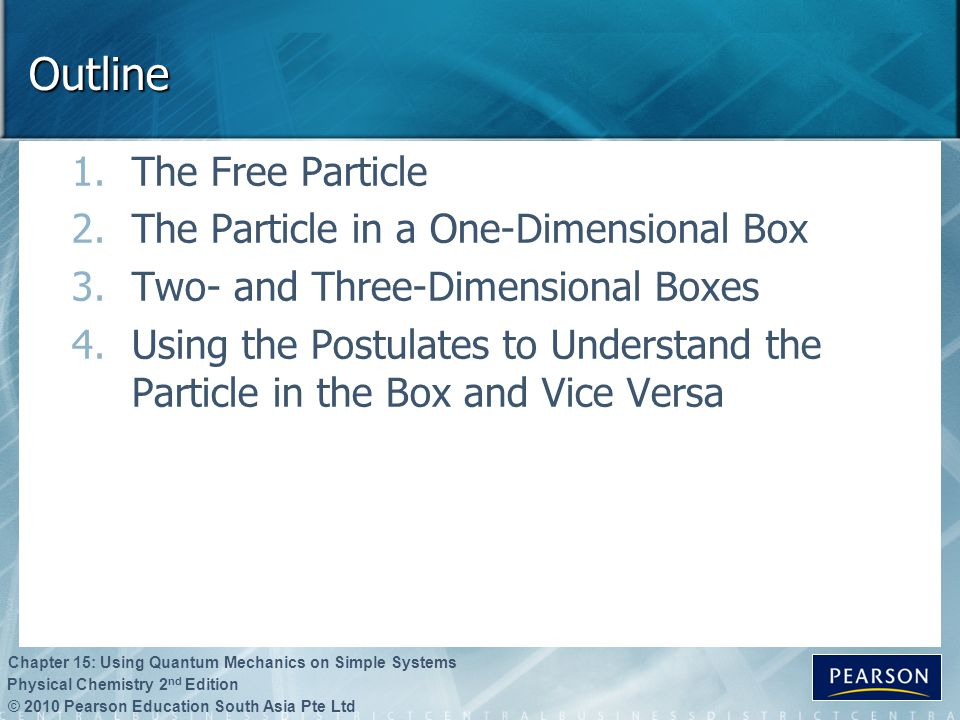 Outline The Free Particle The Particle in a One-Dimensional Box