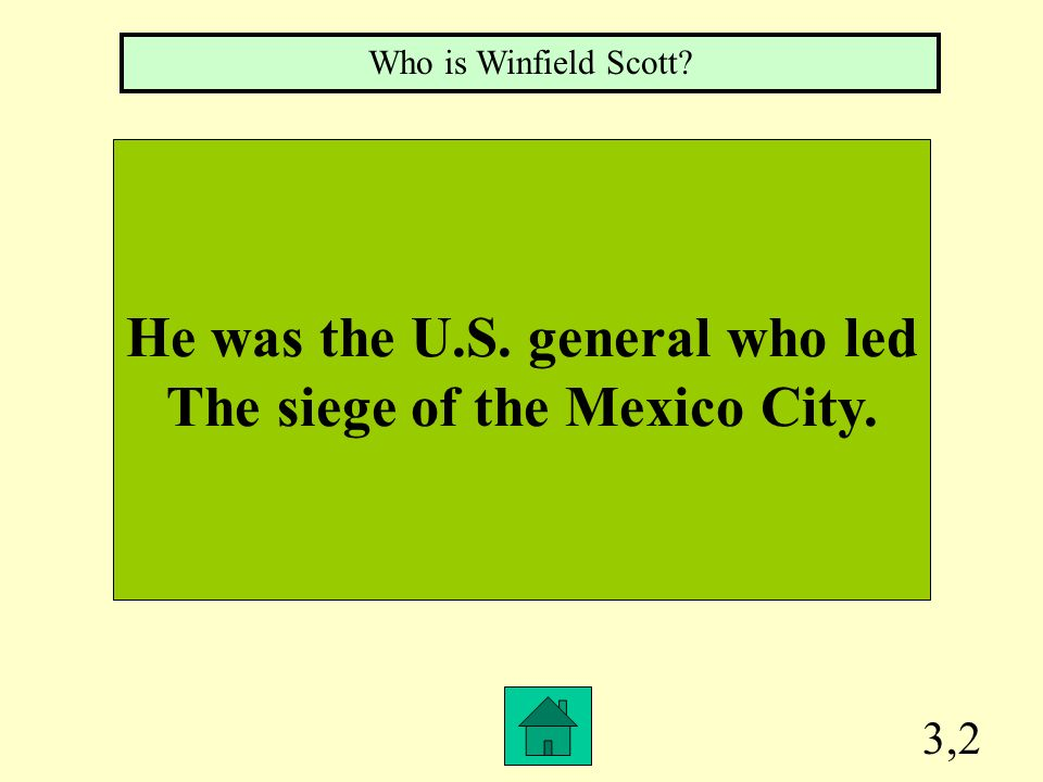 He was the U.S. general who led The siege of the Mexico City.