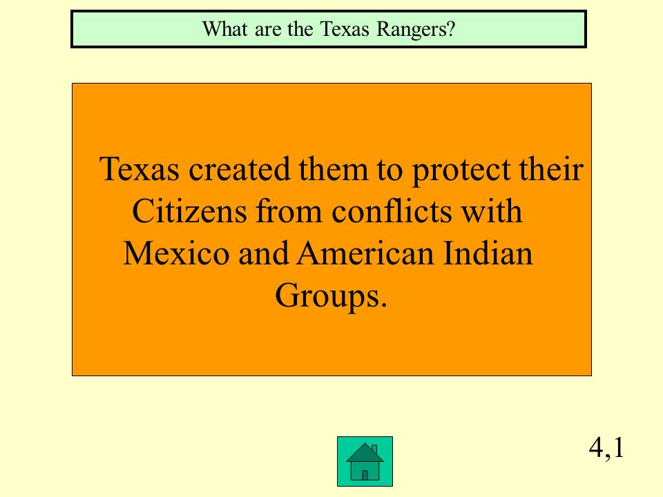 Texas created them to protect their