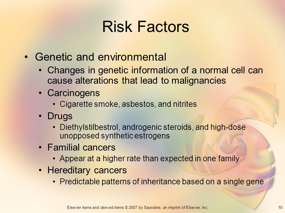 Risk Factors Genetic and environmental