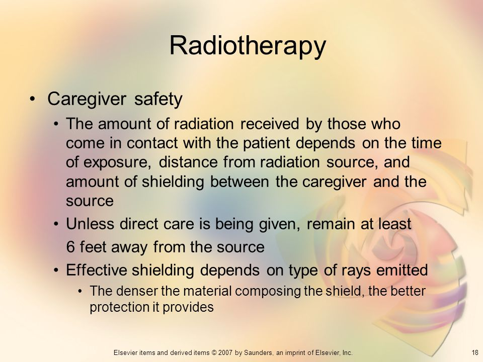 Radiotherapy Caregiver safety