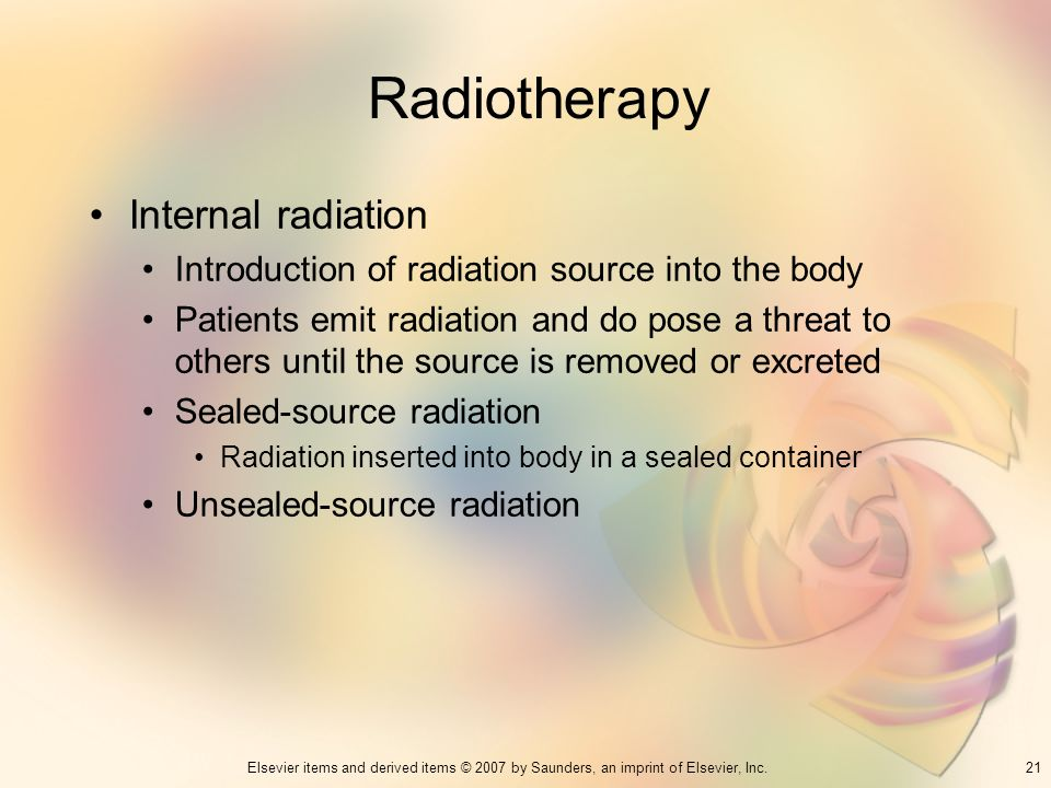 Radiotherapy Internal radiation