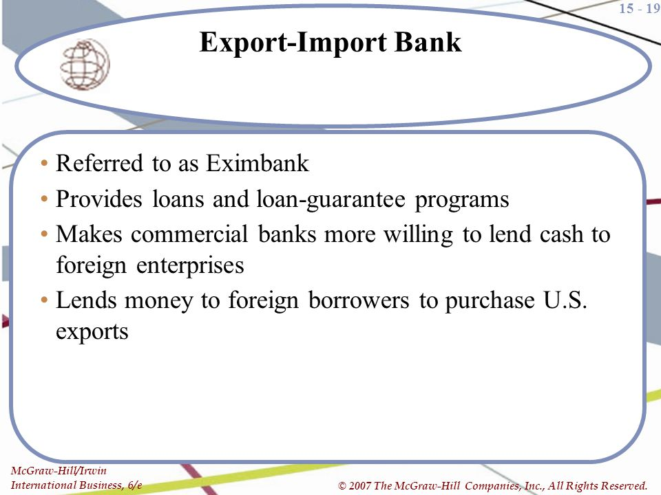 Export-Import Bank Referred to as Eximbank