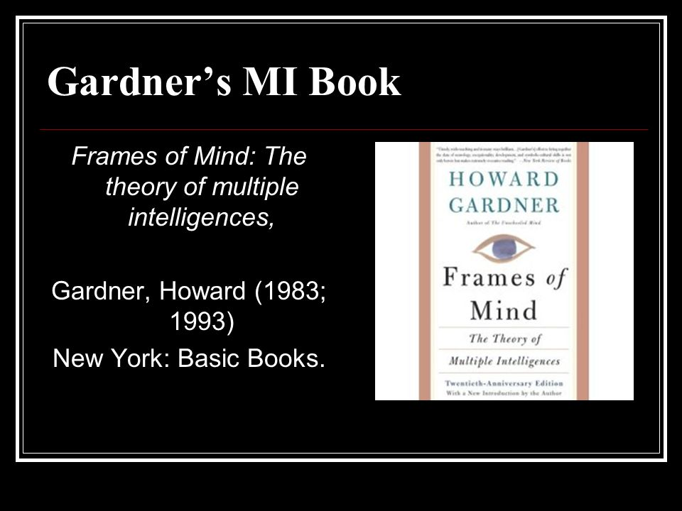 Frames of Mind: The theory of multiple intelligences,