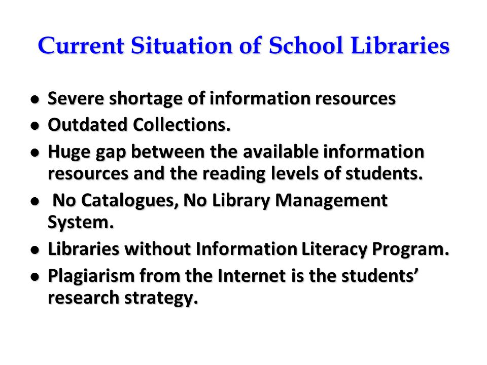 Current Situation of School Libraries