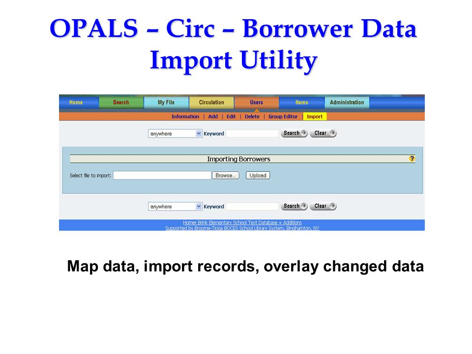 OPALS – Circ – Borrower Data Import Utility