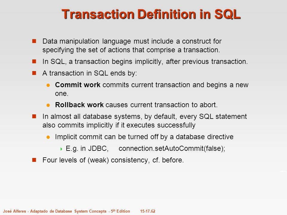 Transaction Definition in SQL