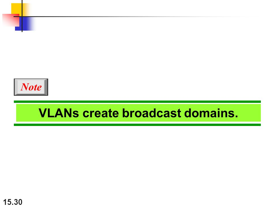 VLANs create broadcast domains.