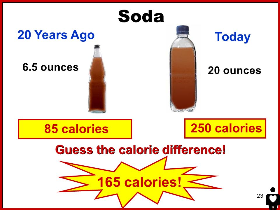 Guess the calorie difference!
