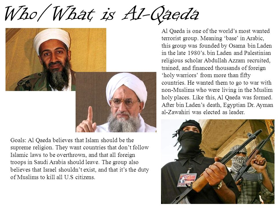 Who/What is Al-Qaeda