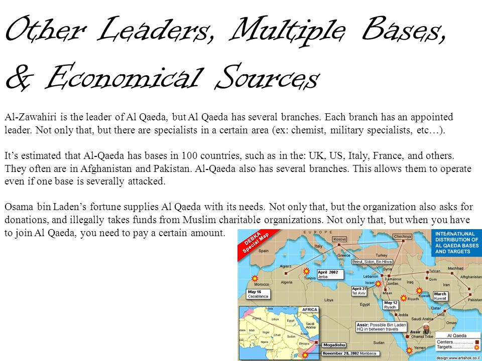 Other Leaders, Multiple Bases, & Economical Sources