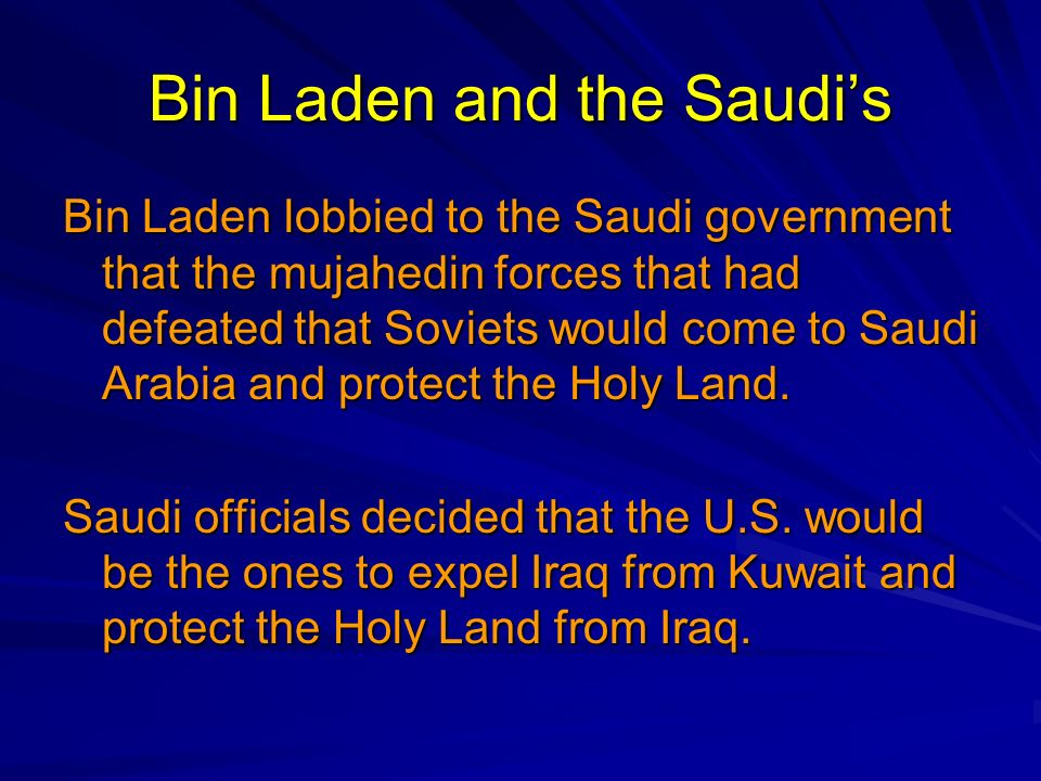Bin Laden and the Saudi's