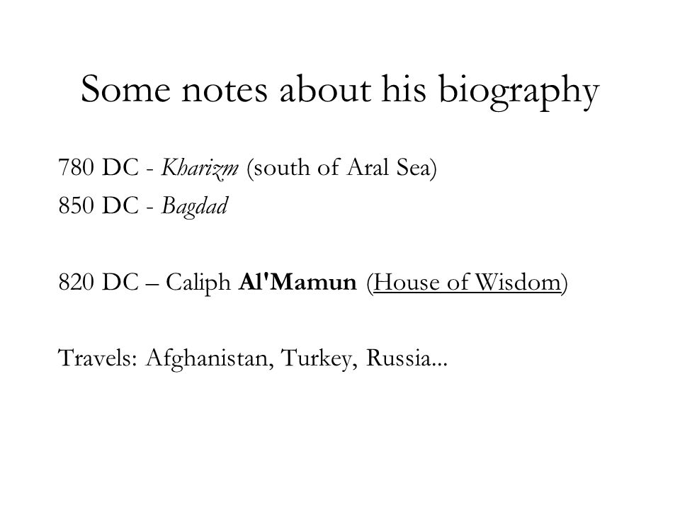 Some notes about his biography