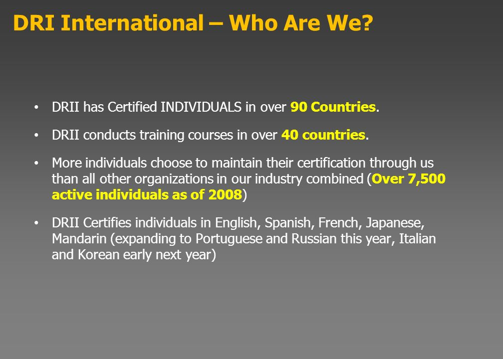DRI International – Who Are We