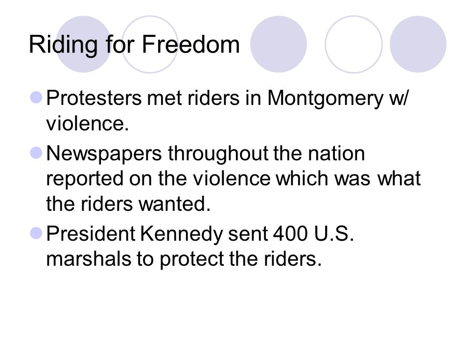 Riding for Freedom Protesters met riders in Montgomery w/ violence.