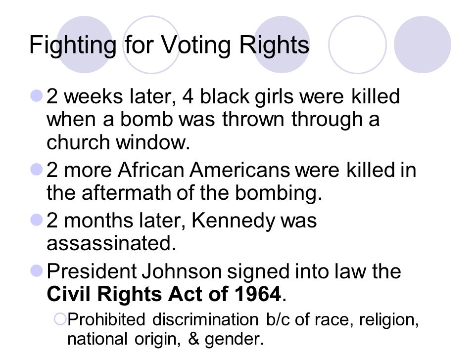 Fighting for Voting Rights