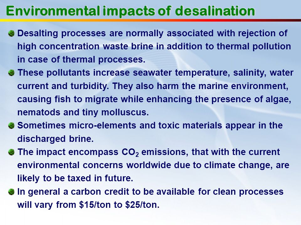 Environmental impacts of desalination