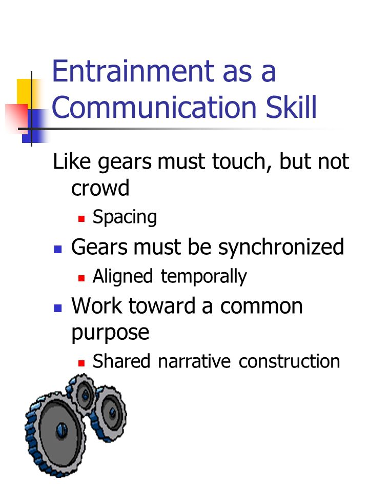 Entrainment as a Communication Skill