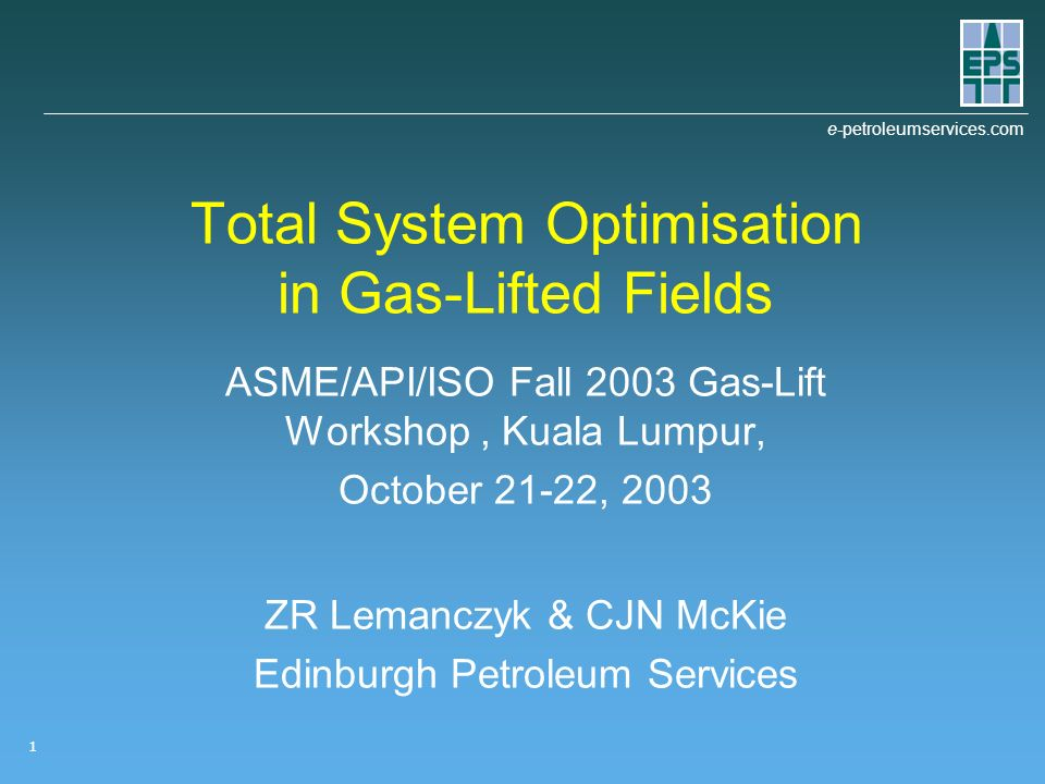 Total System Optimisation in Gas-Lifted Fields