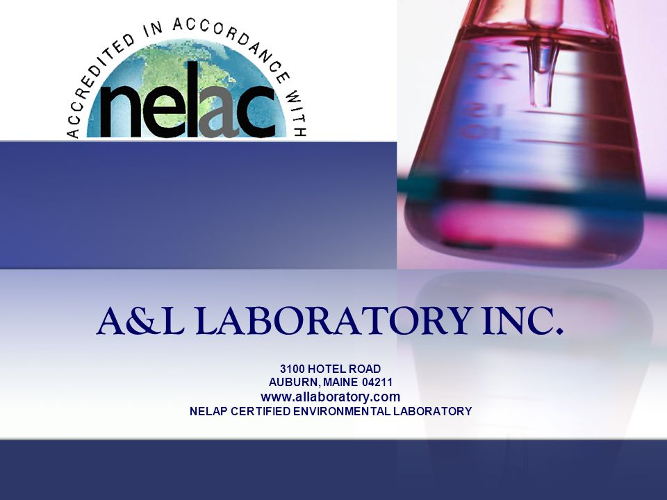 NELAP CERTIFIED ENVIRONMENTAL LABORATORY