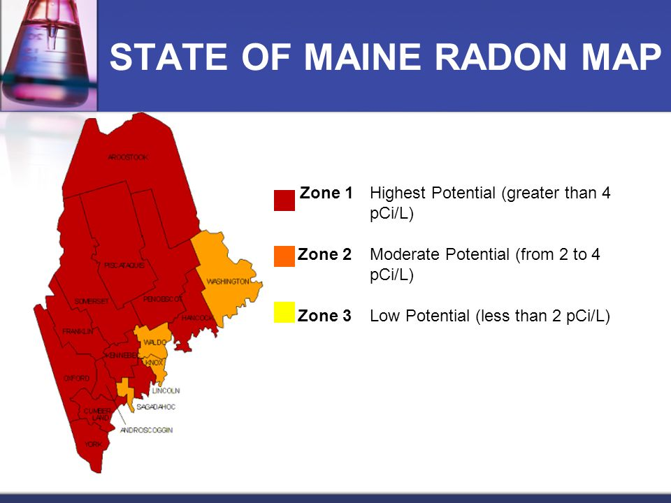 STATE OF MAINE RADON MAP