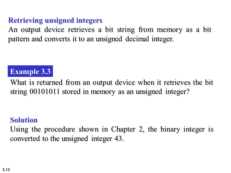 Retrieving unsigned integers