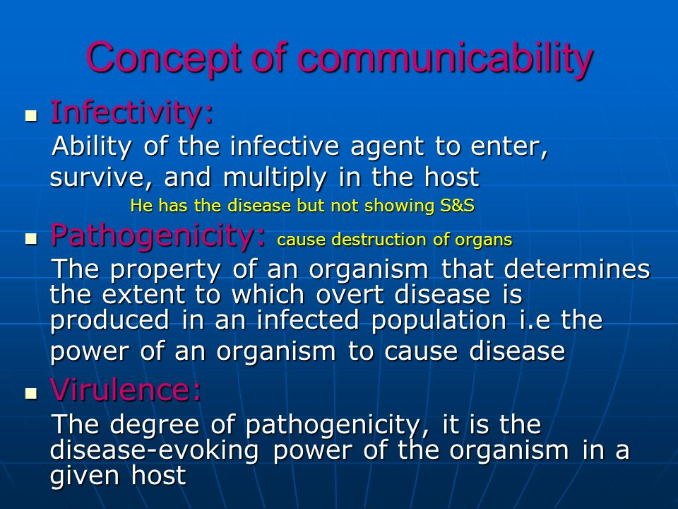 Concept of communicability