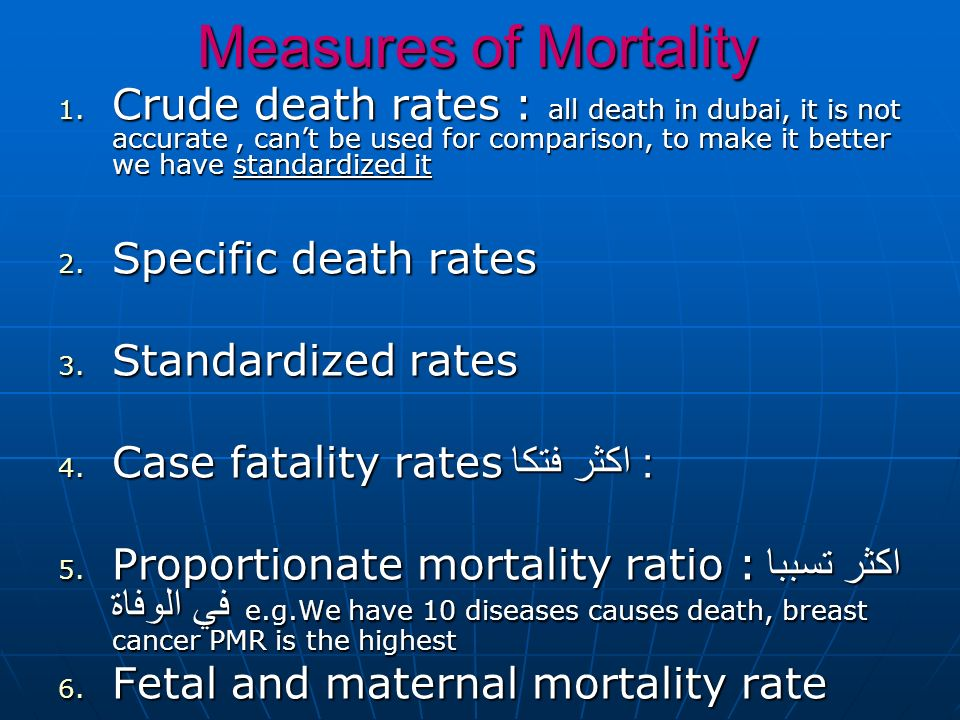 Measures of Mortality