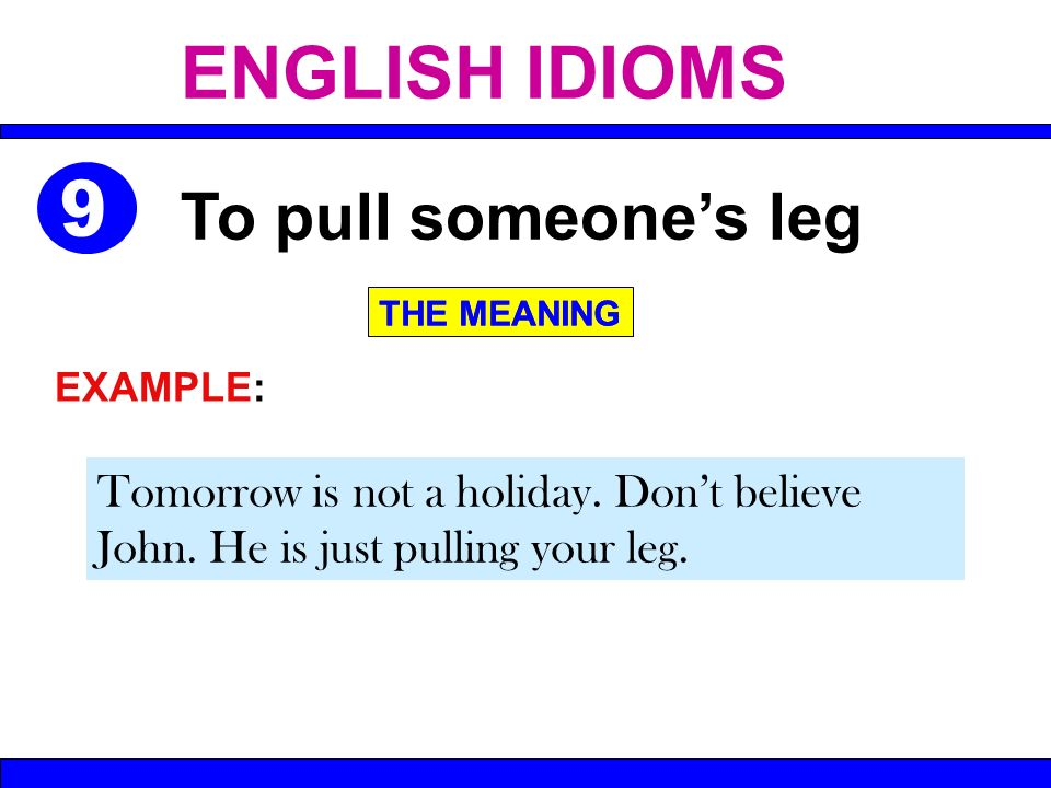 English Idioms Ppt Video Online Download