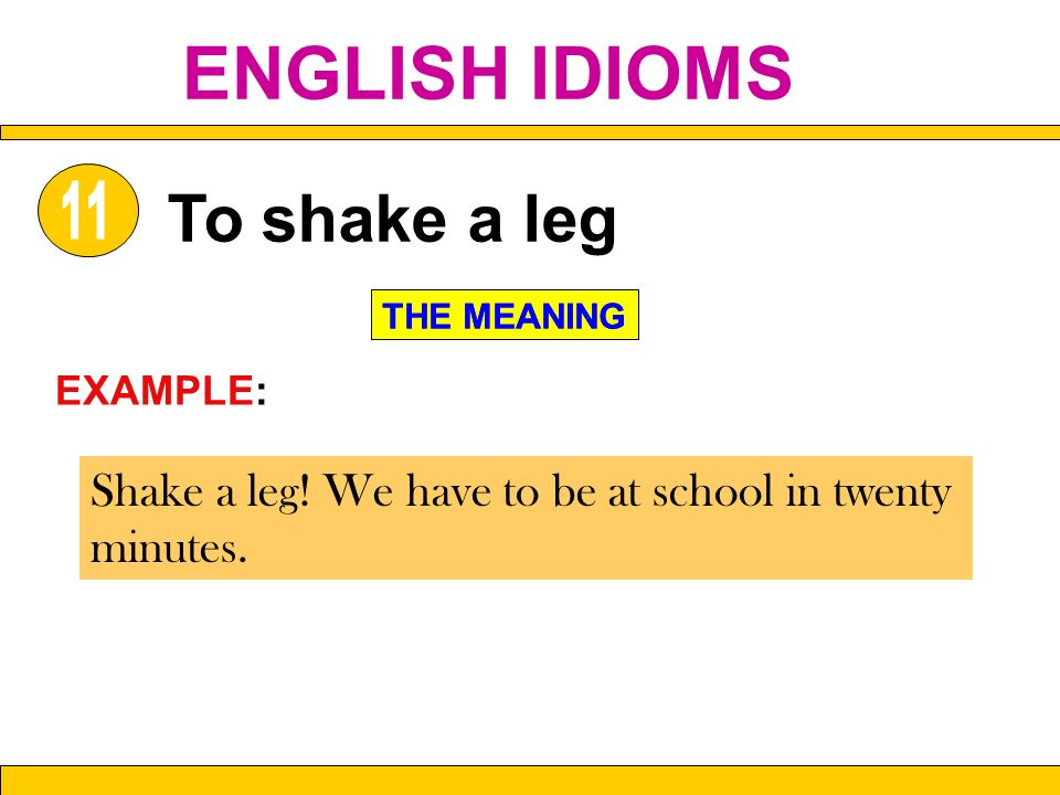 ENGLISH IDIOMS  - ppt video online download