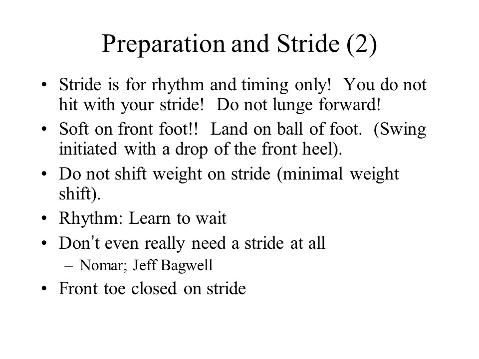 Preparation and Stride (2)