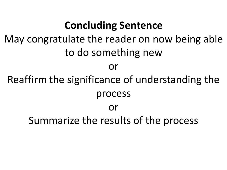 May congratulate the reader on now being able to do something new or