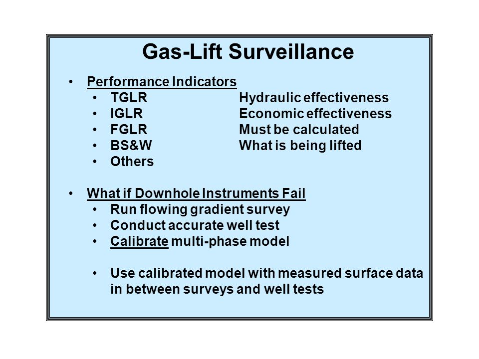 Gas-Lift Surveillance
