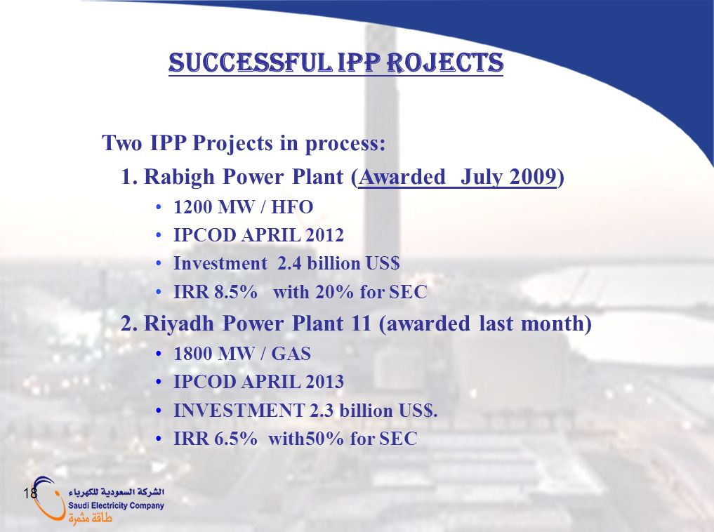SUCCESSFUL IPP ROJECTS