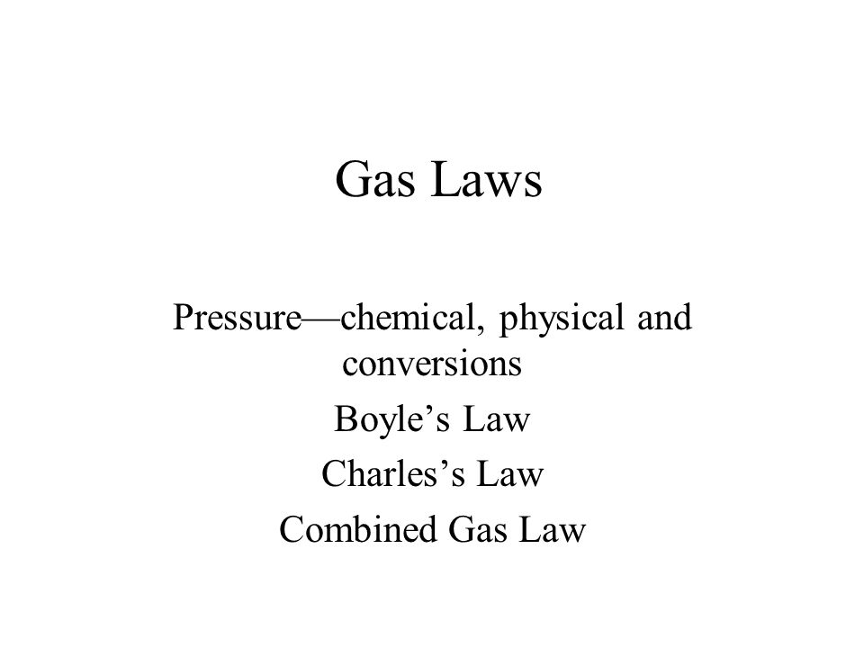 Pressure—chemical, physical and conversions