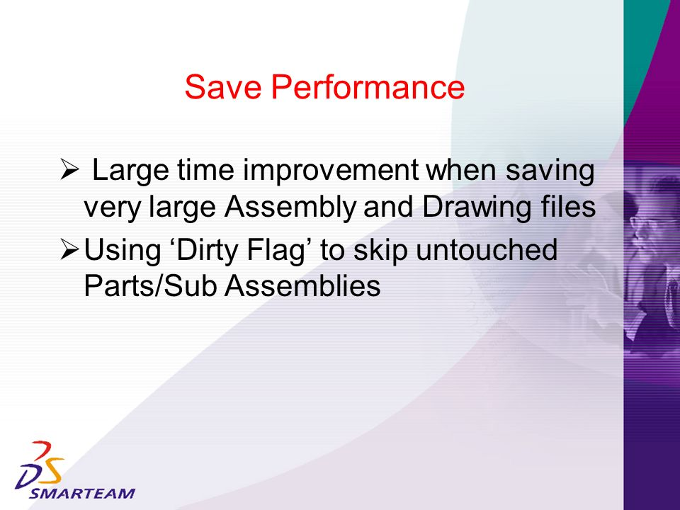 Using 'Dirty Flag' to skip untouched Parts/Sub Assemblies